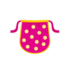 kid apron icon flat style vector image