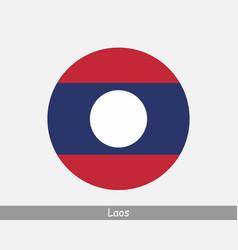 Laos round circle flag vector