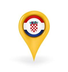 Location Croatia vector