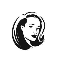logo face woman beauty salon spa cosmetics vector image