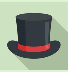 magic hat icon flat style vector image
