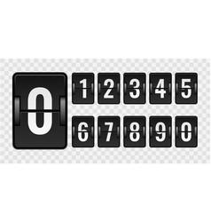 mechanical scoreboard realistic countdown numbers vector image