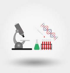 medical devices microscope dna flask test vector image