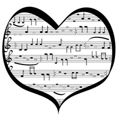 music lovers heart vector image