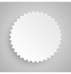 Paper Banner Design Mockup Circle vector image