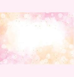 Pink watercolor wash splash with blurred bokeh vector