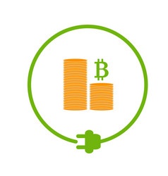 Profit from bitcoin mining vector