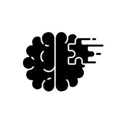 Psychiatric ward black glyph icon vector