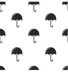 repeating seamless pattern black umbrellas on vector image