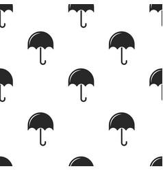 repeating seamless pattern black umbrellas vector image