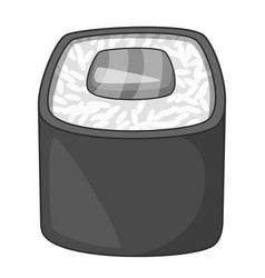 roll traditional japanese food icon monochrome vector image