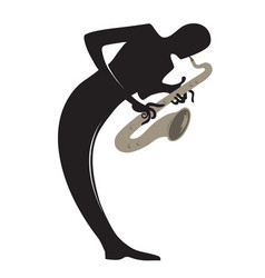 saxophone player vector image