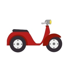 scooter motorcycle retro vector image