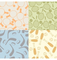 seamless patterns sport icons vector image