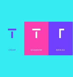 set letter t minimal logo icon design template vector image