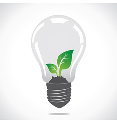 Small plant in bulb vector