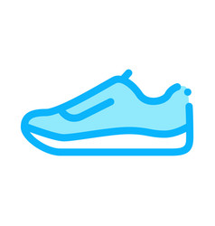 sneaker shoe icon outline vector image