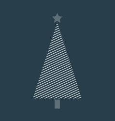 stripped christmas tree vector image
