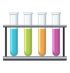 testtubes with different chemical inside vector image