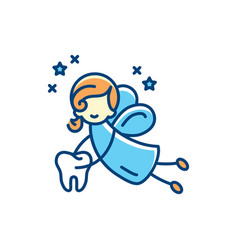tooth fairy icon flat thin vector image