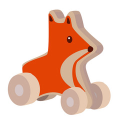 Toy fox icon on a white background animal vector