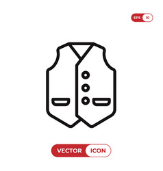 vest icon vector image