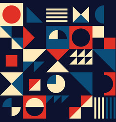 vintage mid-century modern seamless pattern vector image