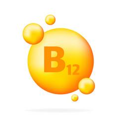 Vitamin b12 niacin drop pill capsule icon vector