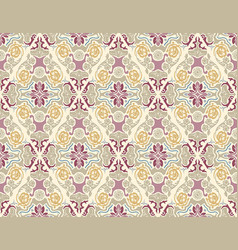 wallpaper with damask pattern in pastel colors vector image