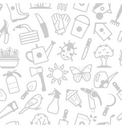 white pattern garden accessories vector image