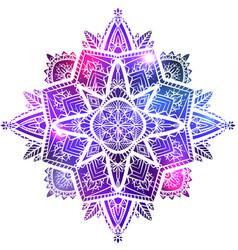 Zen mandala with boho pattern space vector
