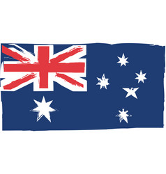 abstract australian flag or banner vector image