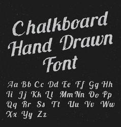 chalkboard hand drawn font poster vector image vector image