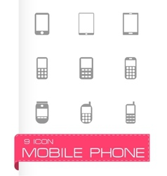 mobile phone icon set vector image