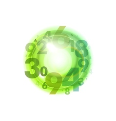 numbers circle green vector image vector image