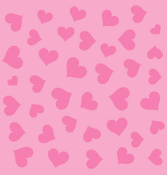 pink hearts seamless background pattern vector image