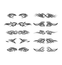 Tattoo patterns vector image vector image