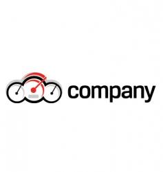 vehicle speedometer logo vector image