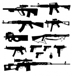 firearms vector image vector image