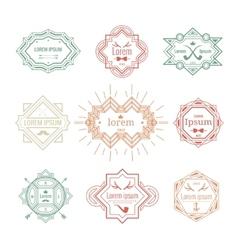 hipster vintage labels vector image vector image