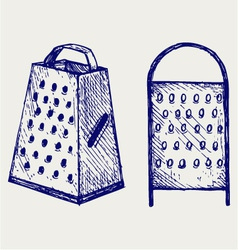 New metal grater vector image