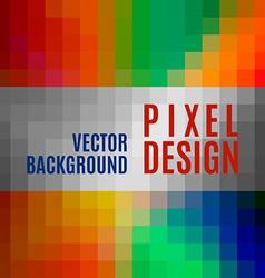 Pixel Template vector image