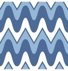 Simple blue scalloped seamless pattern vector image vector image
