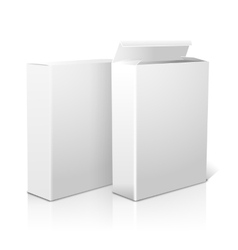 Two realistic blank paper packages for cornflakes vector