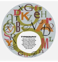 typographic composition vector image vector image