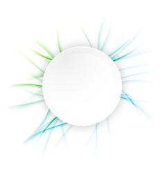 abstract futuristic circle banner layout vector image