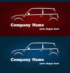 car company logotype templates vector image vector image