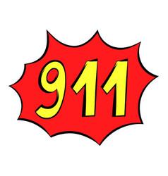 emergency 911 icon icon cartoon vector image