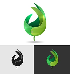 Leaf Abstract Logo Icon Symbol vector image vector image