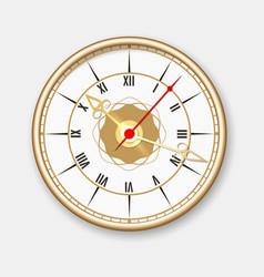 Retro wall clock icon vector image